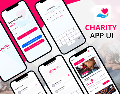 Charity and Donate App UI Design