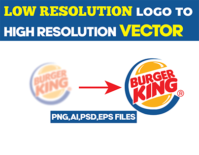 convert your low resolution logo high vector