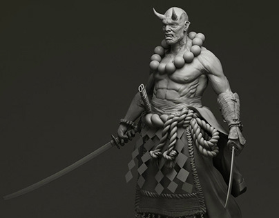 3D Demon Monster Model Character Design