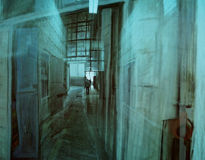 Сorridor (multiple exposure 2 frames)