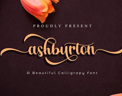 Ashburton | A Calligraphy Font