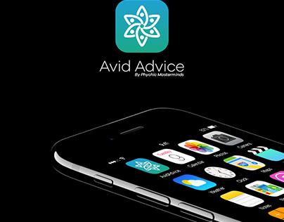 AvidAdvice | App UI & Identity design for iOs & Android
