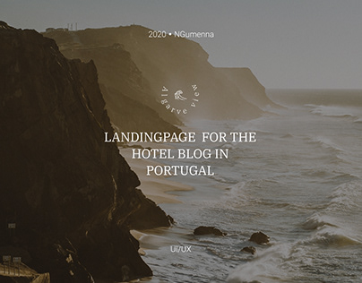Landingpage for the hotel blog in Portugal.