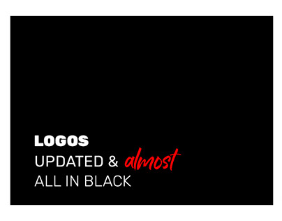 Logos & Brand Marks, almost all in black