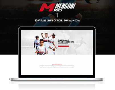 Mengoni Sports - ID Visual, Web Design e Social Media