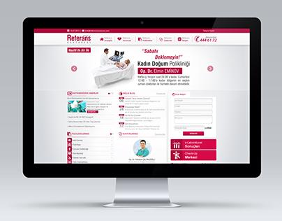 Özel Referans Hastanesi Web Design