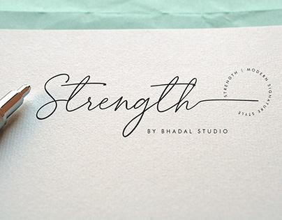Strength SIgnature Font
