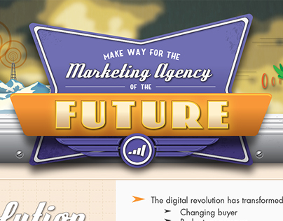 Marketing Agency Retro Future Infographic