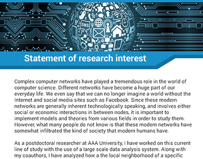 Statement of research interests biology