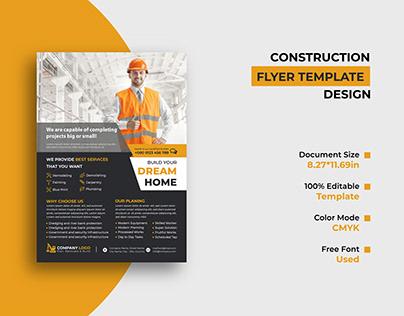 Construction Company Flyer Template Design