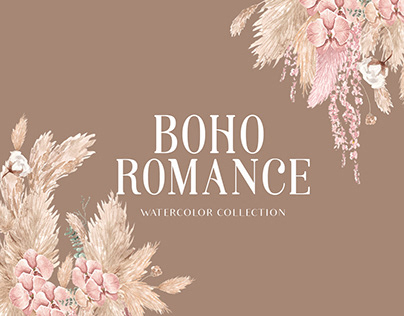 Bohemian Romance Watercolor Collection