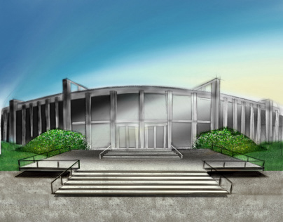 Retocuhing Sketches - IIT Campus 2012