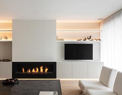 Living room in Knokke-Heist, Belgium