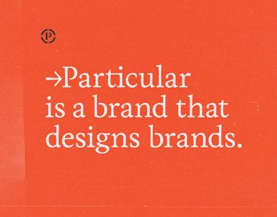 → Particular / Branding