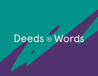 Deeds x Words