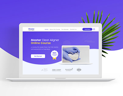 Master Clear Aligner Identity & Landing Page