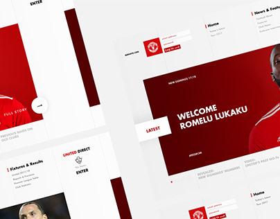 MANUTD.COM Web Concept