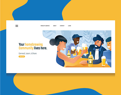 Landing Page Illustration - Homebrewing Community