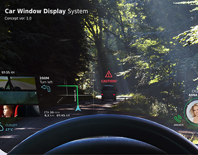 Car Window Display System - concept