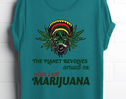 Marijuana T Shirt Design