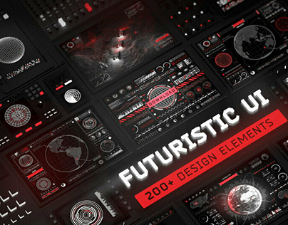 Futuristic UI Kit by Arsenii Samolevskyi