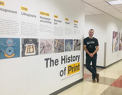 History of Print Wall