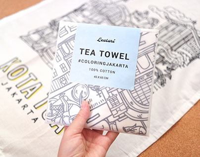 Tea Towel Illustration and Packaging for Lestari