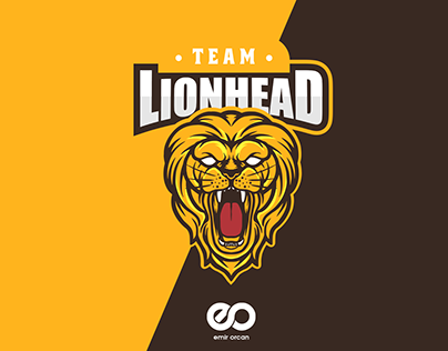 Lion Head Mascot Esport Logo Design