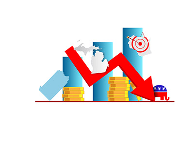 Election Spending and Budgeting for PA, MI and WI.