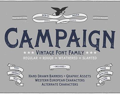 Campaign - Vintage Font Family