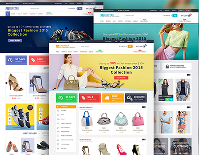 """SHOPPER"" eCommerce web template"