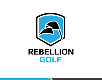 Rebellion Golf logo design