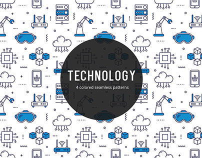 Technology Vector Free Seamless Pattern