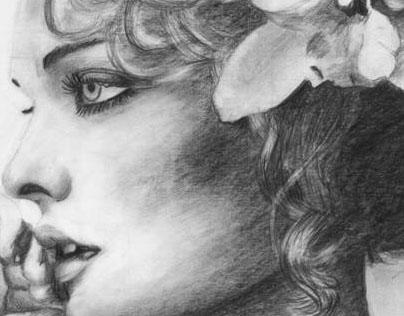"ART PRINT ""CAROLYN MURPHY""  FOR SOCIETY6 . COM"