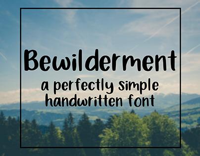 Bewilderment: a perfectly simple handwritten font