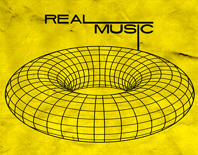 REAL MUSIC. Advertising poster.