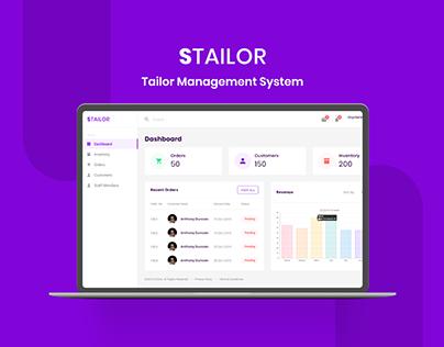 Tailor Management Web App Design
