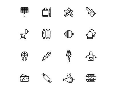 Barbeque Icon Set-04