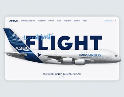 Airbus Landing page