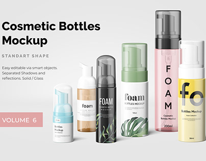 Cosmetic Bottles Mockup Vol.6