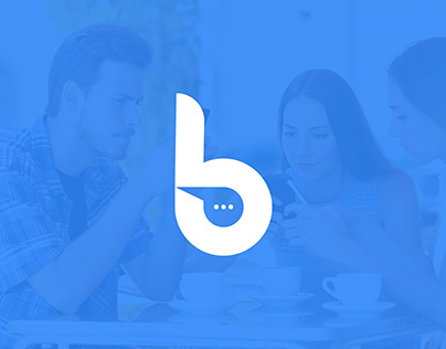 Chatbox logo and branding design. b letter logo