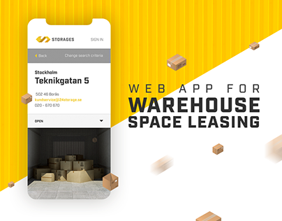 Storages - web app for warehouse space leasing
