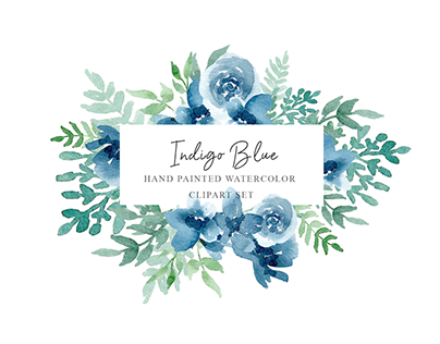 INDIGO BLUE - FREE WATERCOLOR GRAPHICS PACK