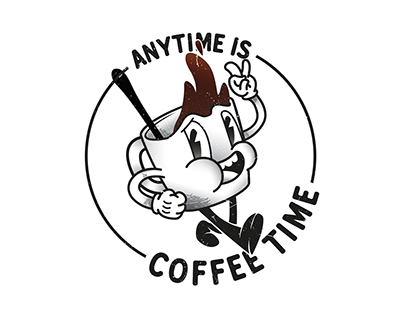 ANYTIME IS COFFEE TIME! - Illustration