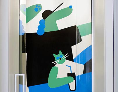 Mural at MTLVET Veterinary Clinic