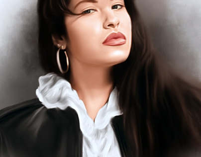 Selena Digital Painting by Wayne Flint