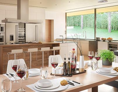 Kitchen in Corona 4D