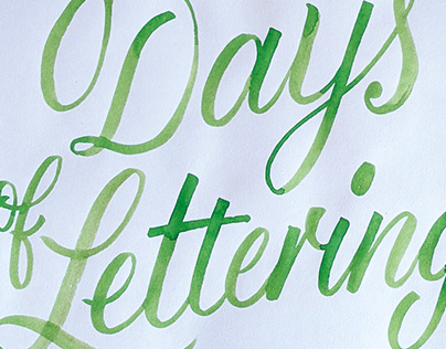 100 Days of Lettering 2020