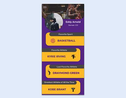 Your favorite Sports App Mockup Concept