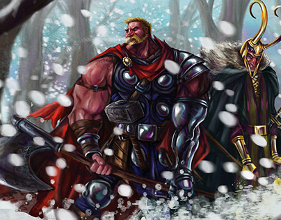 Thor and Loki side by side , again !